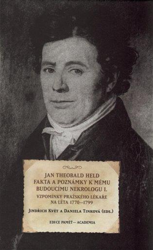 Fakta a poznámky k mému budoucímu nekrologu I. Vzpomínky pražského lékaře na léta 1770-1799 / Jan Theobald Held - obálka knihy
