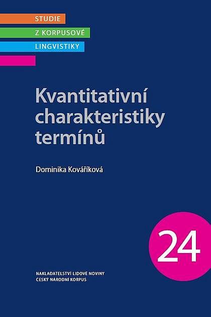 Kvantitativní charakteristiky termínů / Dominika Kováříková - obálka knihy