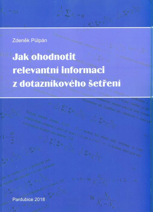 Jak ohodnotit relevantní informaci z dotazníkového šetření / Zdeněk Půlpán - obálka knihy