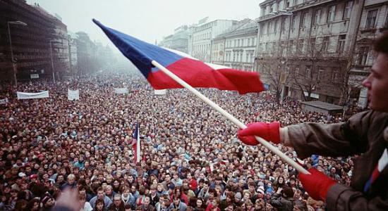 Demonstrace na Václavském náměstí - listopad 1989