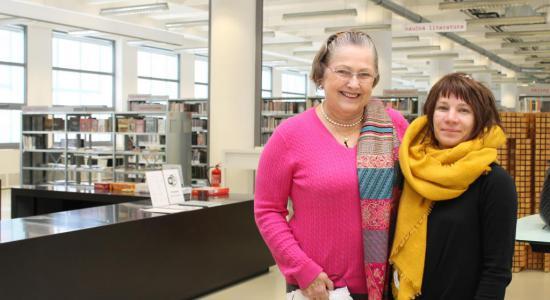 Dolores Baťa Arambasic navštívila naši knihovnu
