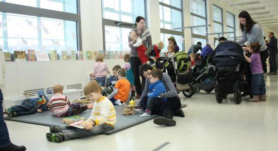 Dětské oddělení ve 3. podlaží budovy 15